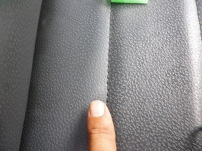レザーシート★塗料付着の除去04