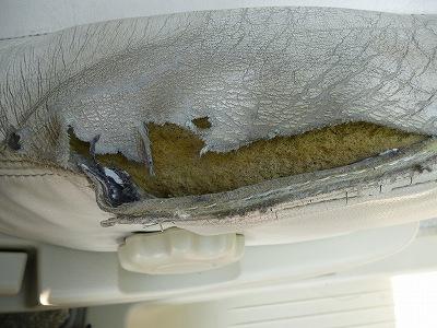 レザーシート破れのリペア02