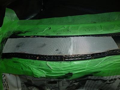 レザーシートの破れリペア施工前04