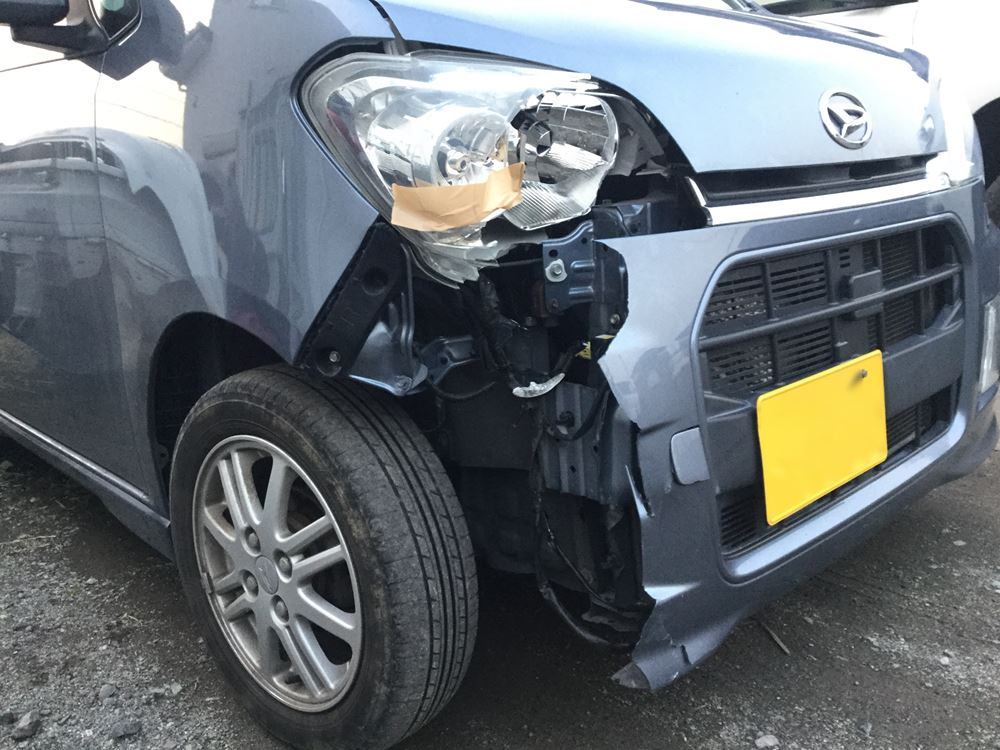 交通事故の修理