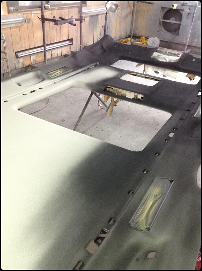 布製天井の塗り替え塗装・カラーチェンジ