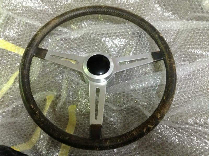 ダットサン革巻きハンドル修理01