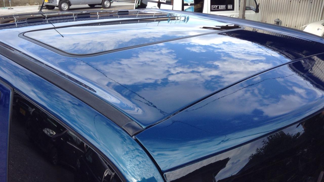天井クリア剥げの再塗装