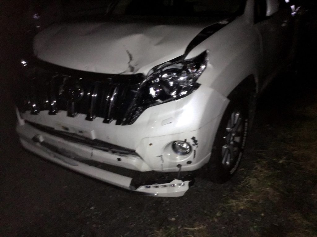 ランクルプラド事故車